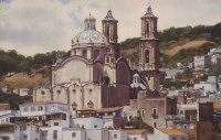 The Santa Prisca Church in Taxco, Mexico.